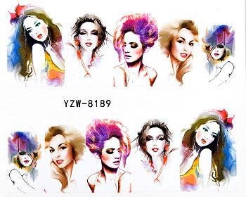Vattendekaler med akvarellfärgade flickor.
