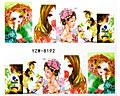 Manga inspirerade nageldekaler med flickor.