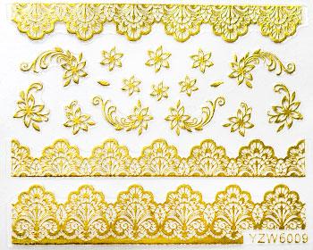 Guldfärgade dekorationer för naglarna. Dekorationerna är självhäftande och används för nail art. Avsluta gärna med ett lager topplack för större hållbarhet.