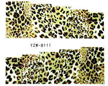 Leopardfärgade vattendekaler.