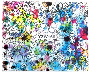 Akvarellfärgade nageldekaler.