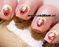 Söta nageldekaler med jordgubbar