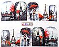 Vattendekaler för naglarna med Parismotiv.
