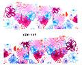 Blommiga wraps i rosa och blåa nyanser.