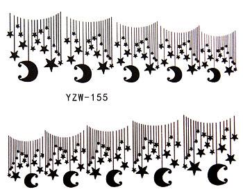 Nageldekaler med stjärnor och månar