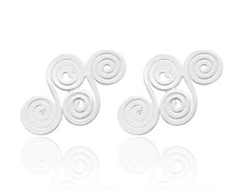 Silverörhängen gjorda i 925 silver. Storlek ca 1,1x0,8 cm.