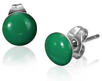 Gröna örhängen.