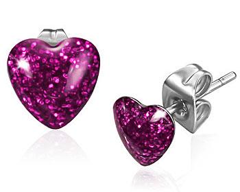 Hjärtformade örhängen.