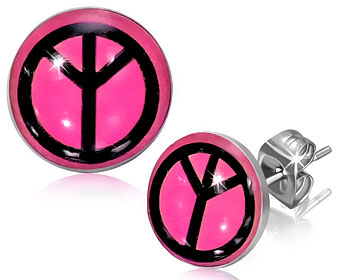 Fredsmärke-örhängen.