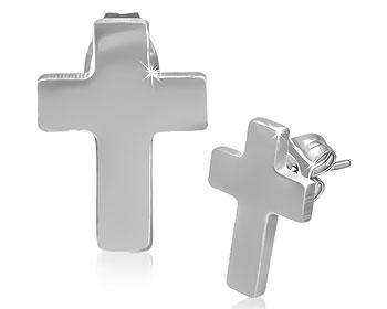 Örhängen med kors.