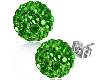 Gröna örhängen 10 mm.