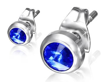 Blåa örhängen.