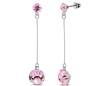 Rosa örhängen.
