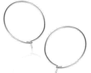 Billiga kreolörhängen 25 mm i diameter cirka.
