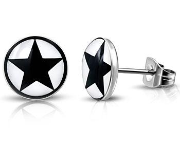Stjärnörhängen. 7 mm.