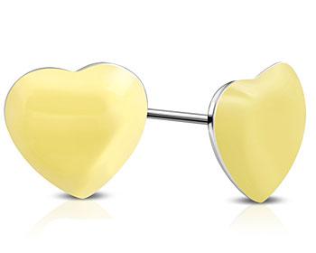 Hjärtformade örhängen. 8x8 mm.