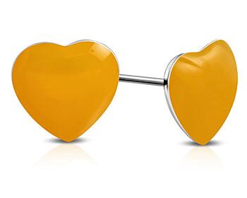 Hjärtörhängen. 8x8 mm.