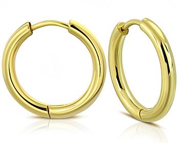 Guldfärgade kreolörhängen. 21x2.5 mm.