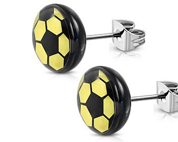 Fotbollsörhängen. 7 mm.