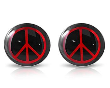 Örhängen med fredsmärke. 10 mm.