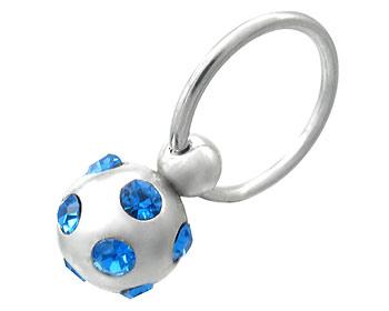Piercing. Smycke i kirurgiskt stål. Tjocklek 1,2 ca  mm. Diameter ca 11 mm.