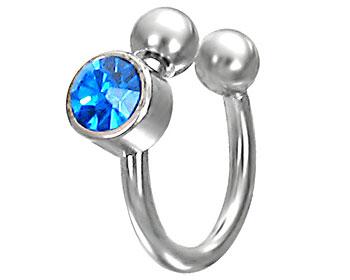 Smycke för piercing. Tjocklek cirka 1,2 mm, diameter cirka 8,5 mm.