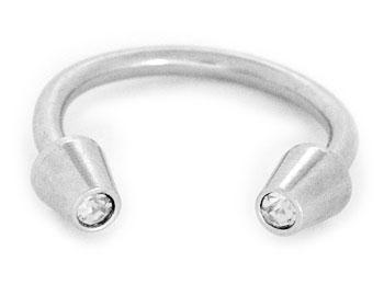 Smycke till piercing på nätet. Tjocklek cirka 1.2 mm, diameter cirka 10 mm.