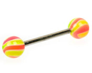 Barbellpiercing. Tjocklek 1.6 mm, längd 16 mm.