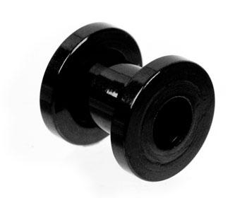 Liten tunnelpiercing 6 mm.