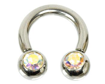 Smycke till piercing. Mått cirka 3x13x8x8 mm.