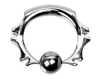 BCR-piercing. Kuldiameter 6 mm.