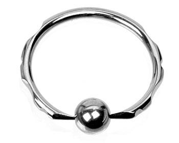 BCR-ring till piercing. Kulstorlek 5 mm.