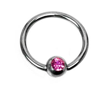 BCR-piercing. Kulstorlek 4 mm.