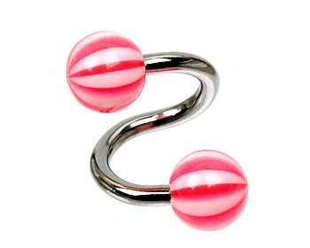 Piercingspiral. Kulstorlek 6 mm.