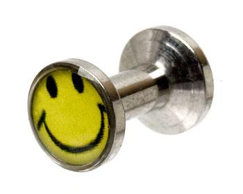 Smile smycke 3 mm. Yttre mått cirka 11x7 mm.
