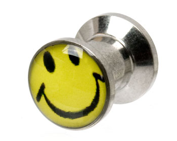 Piercing smiley 6 mm. Yttre mått cirka 12x10 mm.