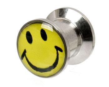 Smileysmycke till piercing 8 mm. Yttre mått cirka 12x12 mm.