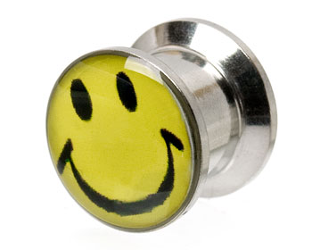 Smileypiercing 10 mm. Yttre mått cirka 12x14 mm.