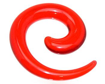 Transparant röd piercing