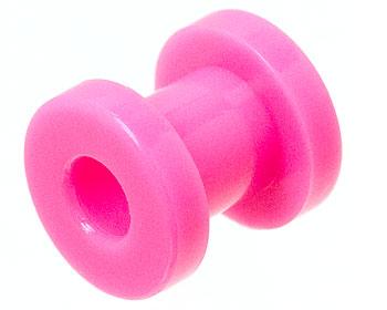 6 mm tunnelpiercing i akryl.