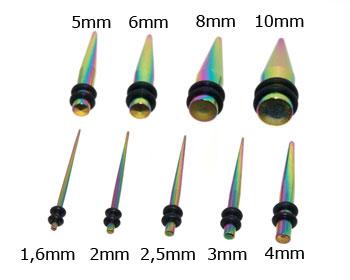 Töjningspiercing 1,6-10 mm.