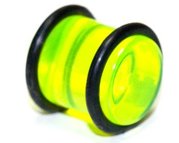 Plugg i akryl, 12mm