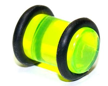 Akrylplugg i halvtransparant material, 8mm