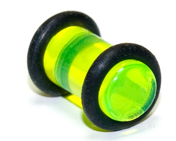 Öronplugg i akryl, 6mm