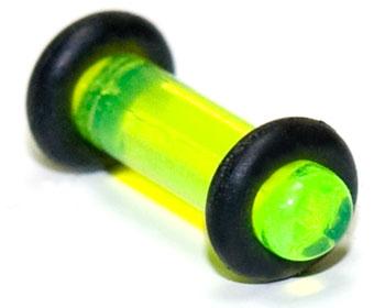 Plugg i transparant akryl, 3mm